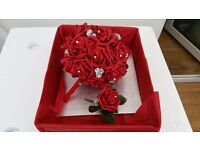 Red Bridal wedding bouquet