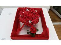 Red Bridal wedding bouquet