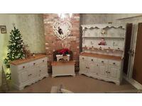 Refurbished welsh dresser, sideboard and chest set