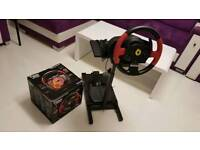 THRUSTMASTER T150 FERRARI RACING STEERING WHEEL + PEDALS + STAND FOR PC PS3 PS4