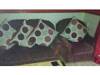 Two seater sofa and 2 matching arm chairs