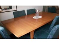 Retro/Vintage Alfed Cox Dinning Table and Six Chairs with Sideboard .