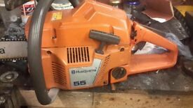 Husqvarna 55 chainsaw