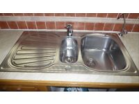 1.5 Bowl Stainless Steel Sink Unit.