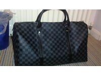 Grey LV Louis Vuitton Weekend Bag