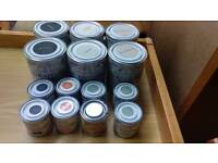 Rust-oleum Chalky Finish Furniture Paint 6x 750ml 7x250ml plus wax.