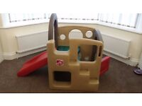 Step 2 Indoor/Outdoor Playhouse with Slide [MINT CONDITION] Play, House