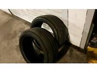 245 40 18 tyres pair 5mm each