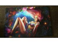 Mermaid canvas picture medium/large new