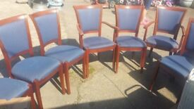 set of 8 dinning chairs good condition only £25.00