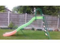 10 foot wavy slide. TP Brand. Good quality, strong sturdy slide.