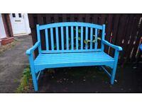 Wooden bench blue