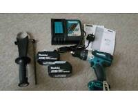 Brand new set Makita hammer drill x2 3ah battery charger