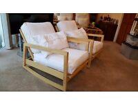 IKEA Lillberg - Low Wooden Rocking Chair x2