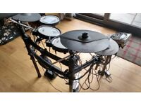 As New Roland TD15K Drum Kit with Extras!!!!! Stool/H'phones/BD + two extra clamps and cymbal pads.