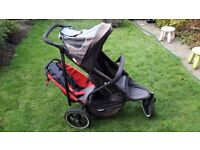 PHIL&TED DOUBLE PUSHCHAIR/JOGGER WITH RAINCOVER