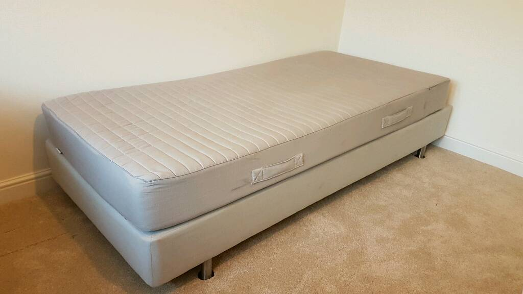 single bed frame with mattress ikea sultan 200 x 90p - Ikea Single Bed Frame