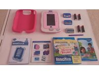 innotab 3 Pink like NEW with 3 games, case including batteries.