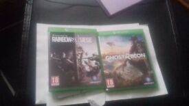 Xbox one games ( ghost recon/rainbow 6)
