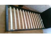 Brown Leather Bed Frame (Single)