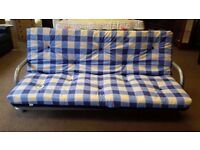 EXCELLENT CONDITION NEW! futon sofa bed, metal frame, easy fold down, ideal for guests,