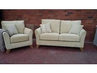 New Pale Lime Suite - 2 Seater Sofa & Armchair - Can Deliver