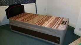 Silentnight Single storage bed with headboard