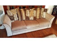 2 seat Sofa Bed and 3 Seat Sofa Bed - Light Brown - Perfect - Bargain
