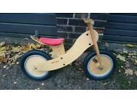 Wooden peddless bike