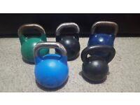 Various Kettlebells For Sale