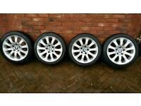 "Bmw 4 x 17""alloy wheels"