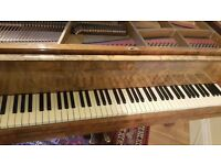 Beautiful John Broadwood and Sons Baby Grand Mahogany Piano