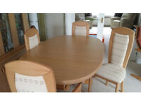 Extending dining table and 6 chairs (Caxton Furniture) £350 .... ONO