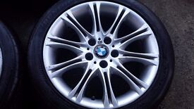 GENUINE BMW MV2 ALLOY WHEEL 8J X 18 FRONT OR REAR WITH TYRE FOR 1, 3 & Z SERIES