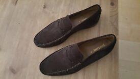 John Lewis brown suede shoes