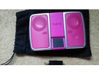 Pink compact logic3 speaker