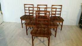 Set Of Six Vintage McIntoch Dining Chairs