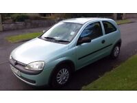 Vauxhall Corsa 1.0 2001 X reg Long MOT Low Miles Elderly Owner £450