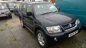 Mitsubishi shogun Warrior auto 2005-05-reg, 3.2 turbo diesel, 126,000 miles,7 seater,