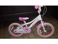 "Hello kitty 16"" wheel girls bmx style bike"