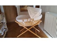 Moses basket with stand. Mamas and Papas