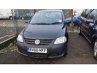 VOLKSWAGEN FOX 2010 43,000 MILES 3 DOOR HATCHBACK MANUAL BLACK