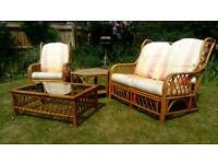 Cane Conservatory Furniture + Tables