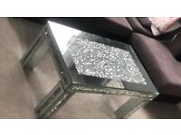 Bling mirror coffee table