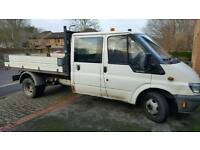 05 transit double cab tipper.