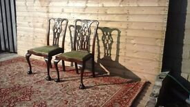 Antique gothic chippendale chairs