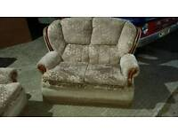 two seater sofa an single chair