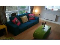 3 seater teal sofa free to collect
