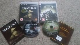 Playstation 3 2 games FALLOUT 3 HEAVY RAIN
