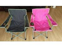 2X folding camping chairs